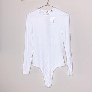 NWT American Apparel Long Sleeve Ribbed Bodysuit